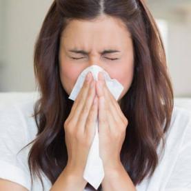 Sneezing due to Flu